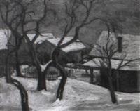 bäume im winter by christian modersohn
