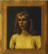 portrait einer jungen frau by jacques van (jaak) melkebeke