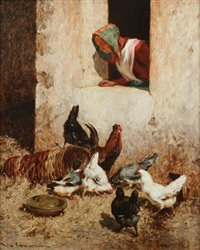 farmyard scene by philibert-leon couturier