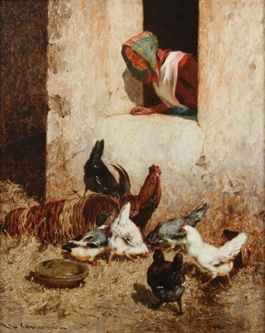 farmyard scene by philibert leon couturier