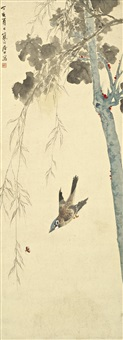 bird by the willows by jiang hanting