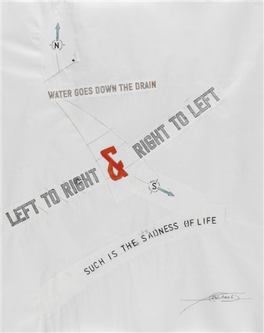 water goes down the drain by lawrence weiner
