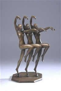 three dancers by henri lauter