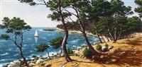 mediterranean landscape by rené dulieu