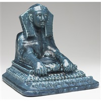 sphinx designed inkwell by louise abel
