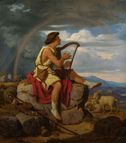 david als hirt und psalmist by carl gottlieb peschel