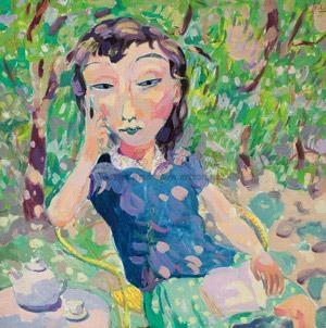 喝茶 drink tea by shen ling