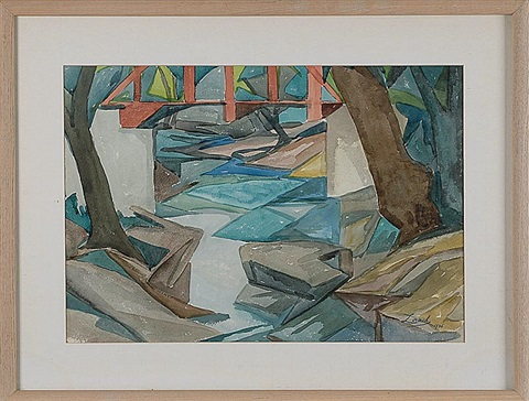 abstract river landscape by william zorach