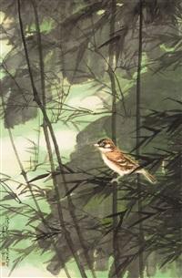 bird by the bamboo by chen peiqiu