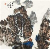 云山江景图 (landscape) by lei zhengmin