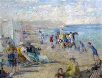 beach scene by alfred john billinghurst