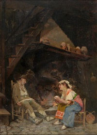 an interior in venice by sir samuel luke fildes