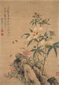insects and flowers by ma meisheng