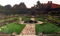 the dutch garden, hampton court by henry somers kortright