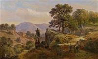 italian mountain landscape by johann wilhelm schirmer