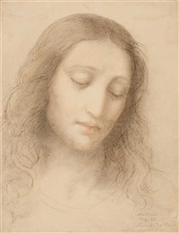 christ, after leonardo da vinci by josef von führich