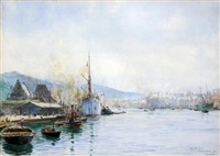 bergenhus and vaagen by william lionel wyllie