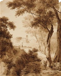 view on tivoli by jean baptiste cicéron lesueur