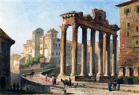 views of rome (3 works) by jacob george strutt