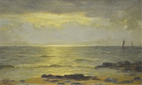 the evening on the ayrshire coast by duncan cameron