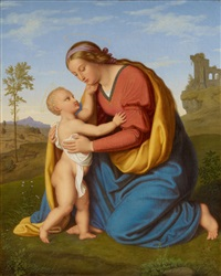 the virgin with child by bernhard endres