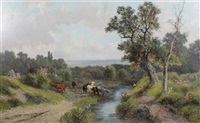 near shere, surrey by abraham hulk the younger