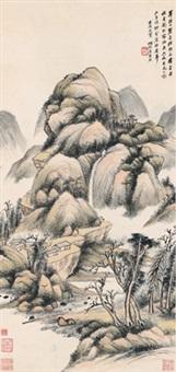 云气幽居图 (landscape) by wu hufan