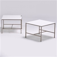pair of side tables by paul mccobb