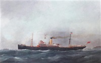 ship portrait of the ss city of karachi by edward adams