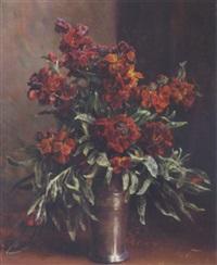 gyldenlakker i en vase by flora heilmann