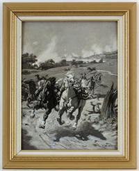 scène de bataille (preparatory study) by evert louis van muyden