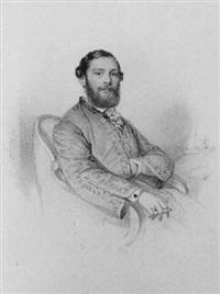 bildnis alexander von ovens, gemahl der charlotte von hagn by franz napoleon heigel