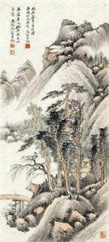 疏林远岫 by you xiaoyun