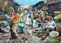 een indonesische markt by sujatno koempoel
