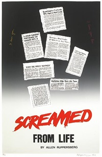 screamed from life by allen ruppersberg