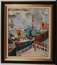 scène de port by pierre lelong