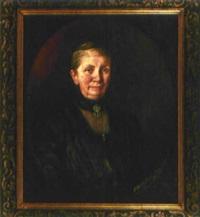 porträt einer elegant gekleideten dame by elsbeth grossmann