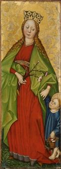hl. margaretha von antiochia (+ hl. dorothea von cäsarea; 2 works) by austrian school-tyrolean (15)