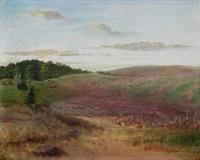 landschaft mit buchweizenfeldern by fritz overbeck
