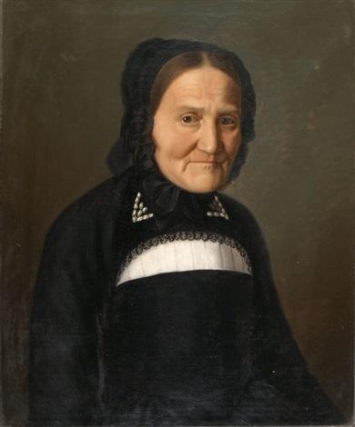 porträt von ehefrau porträt von ehemann diptych by michael föhn