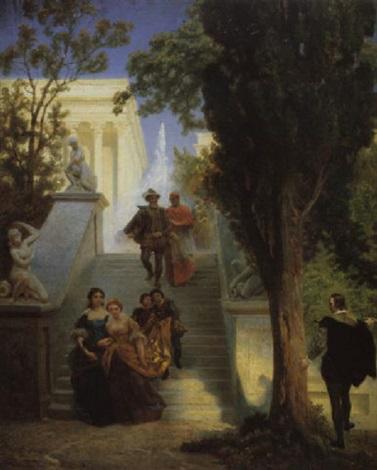 tasso und die beiden leonoren by emanuel gottlieb leutze