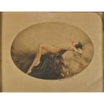 eve; venus (2 works) by louis icart