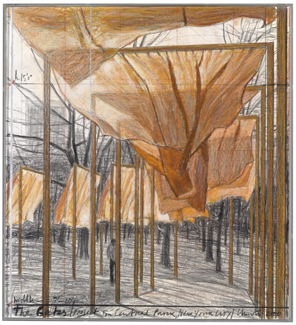 the gates project for central park new york city by christo and jeanne claude