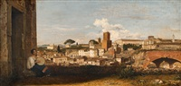 a view of rome by charles victoire frederic moench