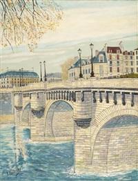 pariser ansicht: pont neuf by andré fontenay de saint-afrique