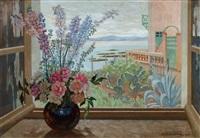 vue d'un paysage à travers une fenêtre by mathilde arbey
