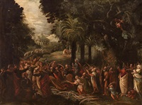 entrada de cristo en jerusalén by francesco bassano the younger