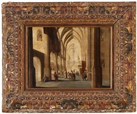 interior de una iglesia by hans jurriaensz van baden