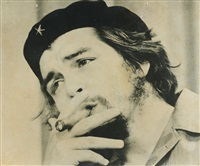 portrait che guevara mit zigarre by raul corrales