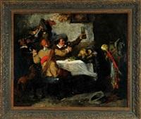 trinkgelage der musketiere by max corregio